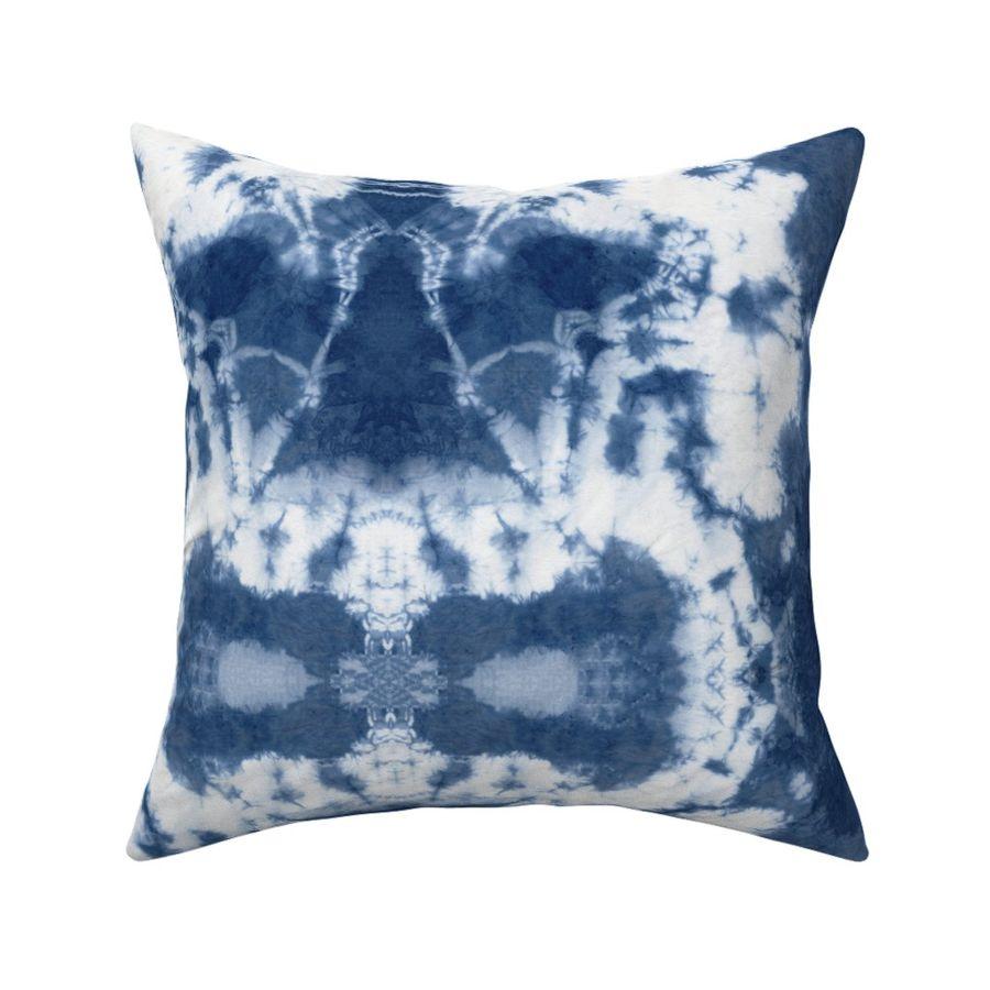 4 ct throw pillow covers indigo blue