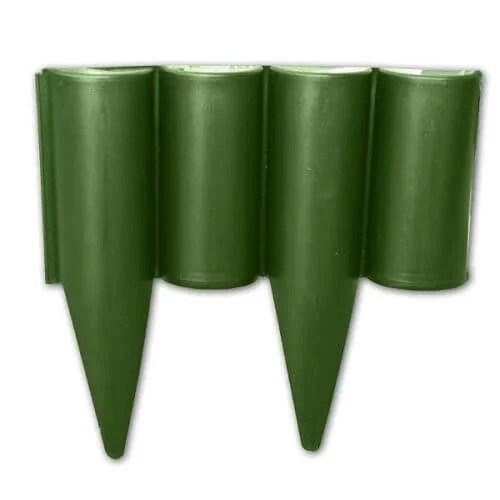 Dekoratyvinė plastikinė tvorelė - 2,5 metro žalios sp. —  vejos pakrasciu tvorele zalia