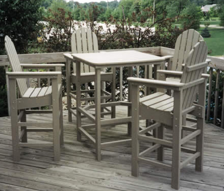 Patio Furniture Bar Set Polyresin Adirondack 5pc