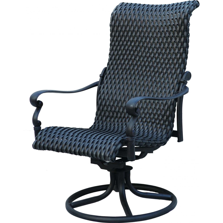 Patio Furniture Wicker Aluminum Rocker Swivel Chair (set2