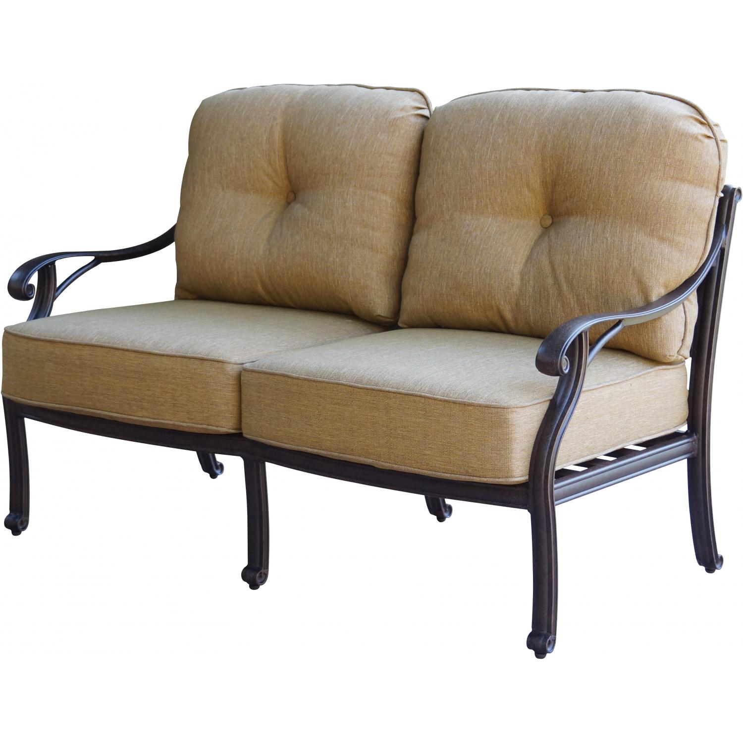 Deep Seating Patio Chairs Patio Furniture Deep Seating Loveseat Cast Aluminum Nassau