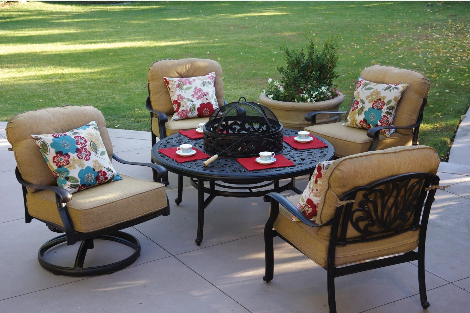 Deep Seating Patio Chairs Patio Furniture Deep Seating Club Chair Cast Aluminum