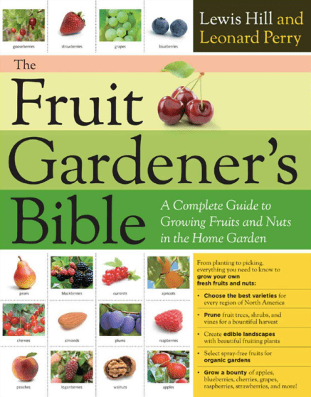 The Fruit Gardener's Bible, best gardening books, best garden books fruit growing bible, growing fruit
