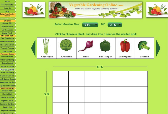 Elegant Vegetable Gardening Online Planner