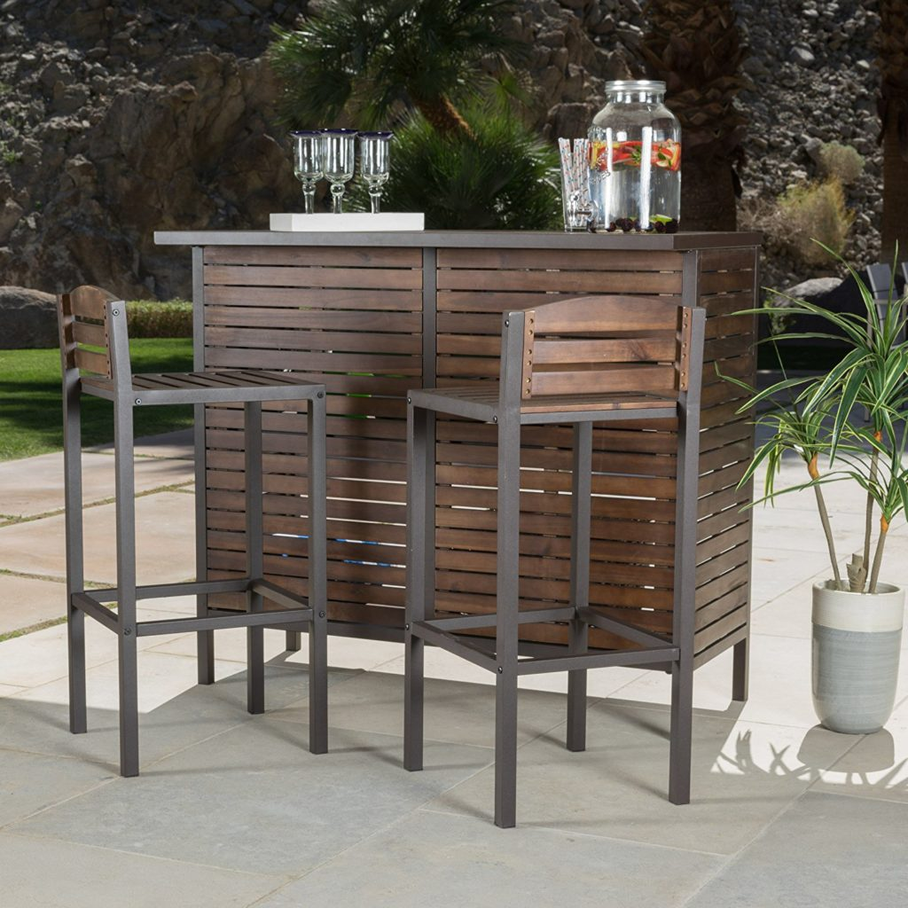 Outdoor Bar Table And Chairs Outdoor Bar The Garden And Patio Home Guide