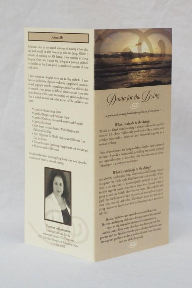 Palliative care brochure