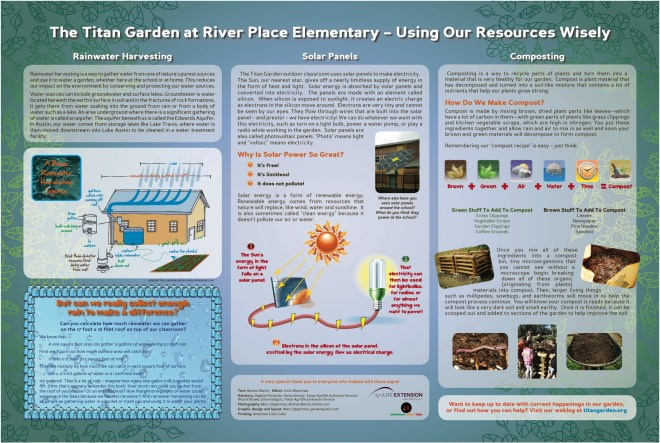 River Place Elementary (Austin, TX) interpretive sign