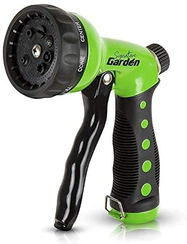 Bright green sprayer with black handle and tip.