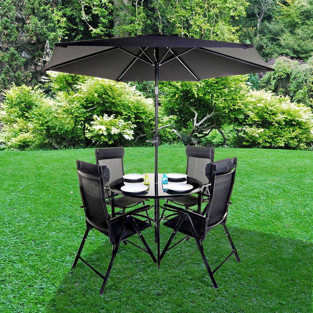 Black Metal Patio Chairs Metal Garden Furniture Shop For Cheap Painting