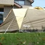 新しいテントの初張り