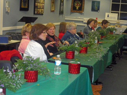 Learning lots of tips about flowers and flower arranging