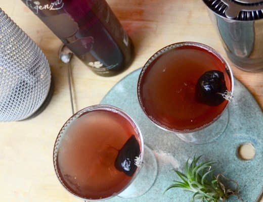 figenza fig cocktail with almond and st. Germain