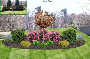 Front Yard Island Landscape Bed Design, Lakeville, Ma | Island within Landscaping Ideas For Front Yard Island