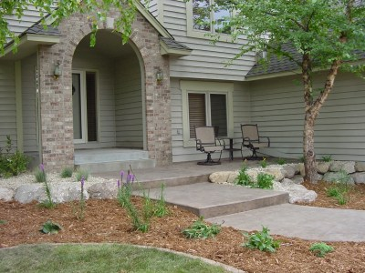 Sidewalk Design Ideas regarding Front Sidewalk Landscaping Ideas