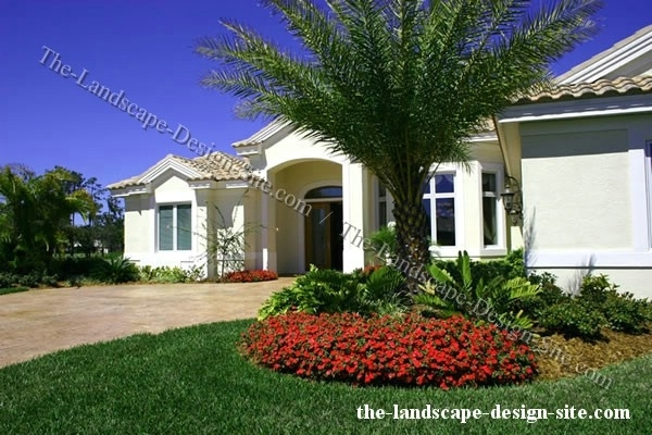 Tropical Landscape Ideas Small Yards | Images Of Tropical Front regarding Landscaping Ideas Front Yard Palm Trees