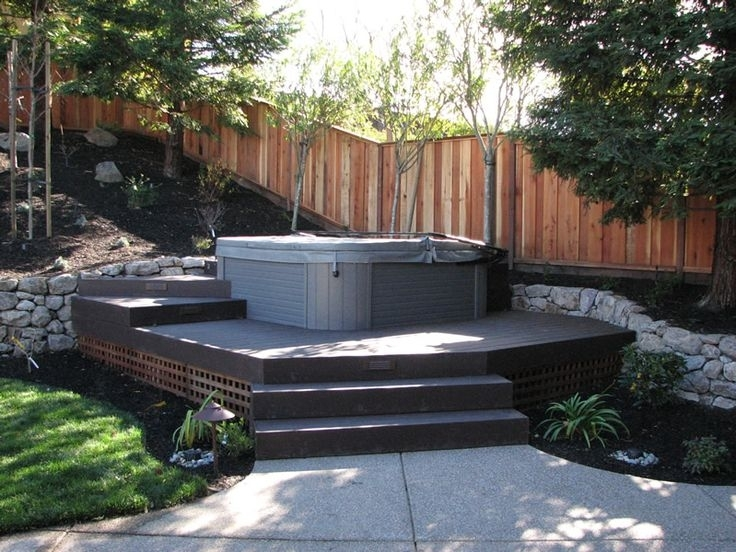 Small Backyard Landscaping Ideas Hot Tub