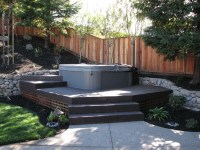 Small Backyard Landscaping Ideas Hot Tub - Garden Design