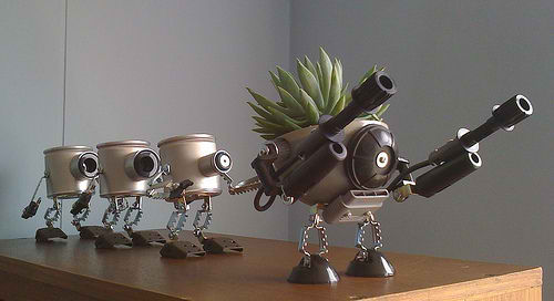 Herb Containers from Junk