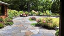 Stone Patio Garden Design