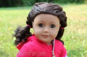 doll hairstyle sporty double braids