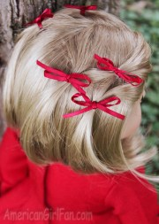 doll hairstyle bitty bow ponytail