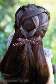 doll hairstyle criss-cross ponytail