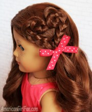 american girl doll hairstyle heart
