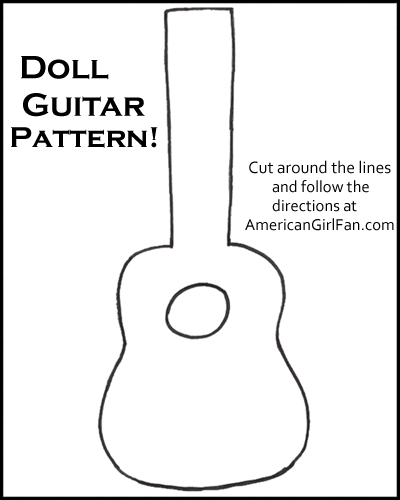 Doll Craft: How to Make a Guitar (With Free Pattern