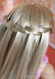 american girl doll hairstyle waterfall