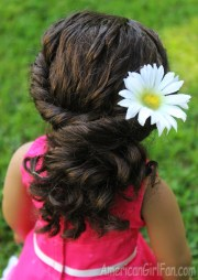 doll hairstyle twisted ponytail