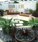 South-Western Sydney Institute Padstow's garden has high quality paving and stone walls