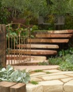 Dan Piper's beautiful sandstone steps seemed to float in mid-air