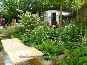 Out in the country with the 'Celebration of Caravanning' garden, designed by Jo Thompson at the Chelsea Flower Show 2012