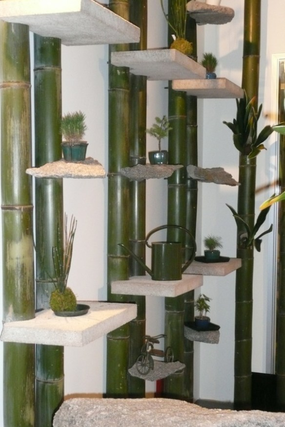 Interesting use of bamboo in one of the balcony gardens