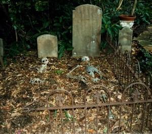 Newport garden graveyard