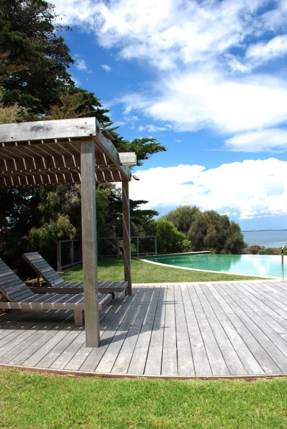 Weathered cypress deck-Design & photo by Jim Fogarty