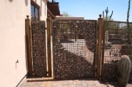 Gabion fence by Goodman Fabrications