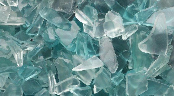 Tumbled recycled glass by Bedrock Ind