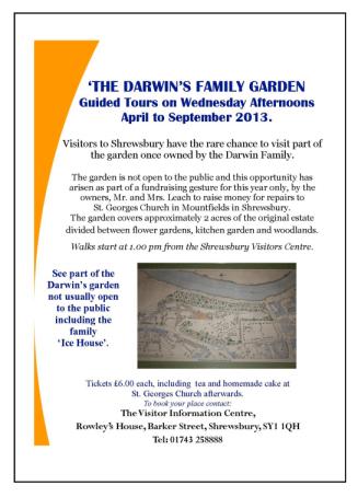 Darwin's Family Garden Visitor info