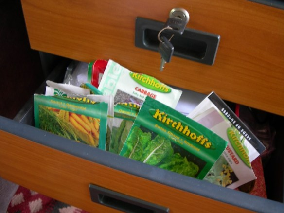 Shameful, old seed packets shoved in a drawer and forgotten about!