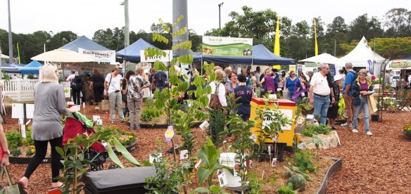 Busy crowds at the Queensland Garden Expo 2013