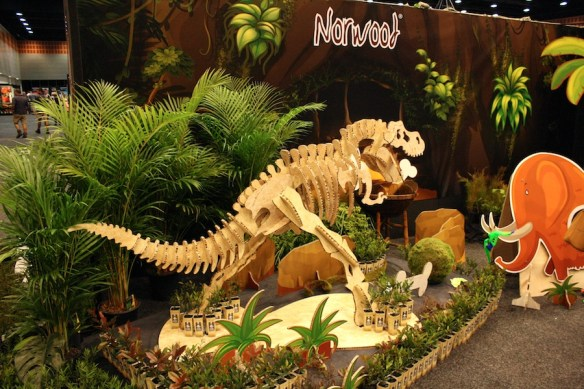 Norwood dinosaur display
