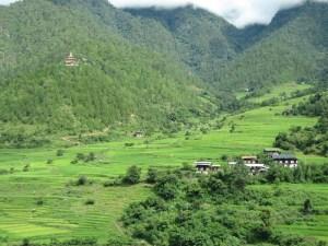 Steep-sided valley in Bhutan Photo Jenny Stewart
