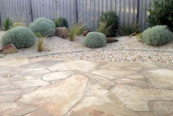 Castlemaine slate paving Beach garden, Torquay. Design Phillip Withers