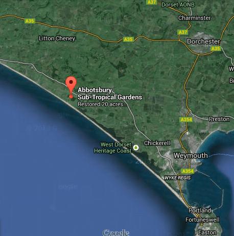 Google Maps Abbotsbury Sub-Tropical Gardens in Dorset