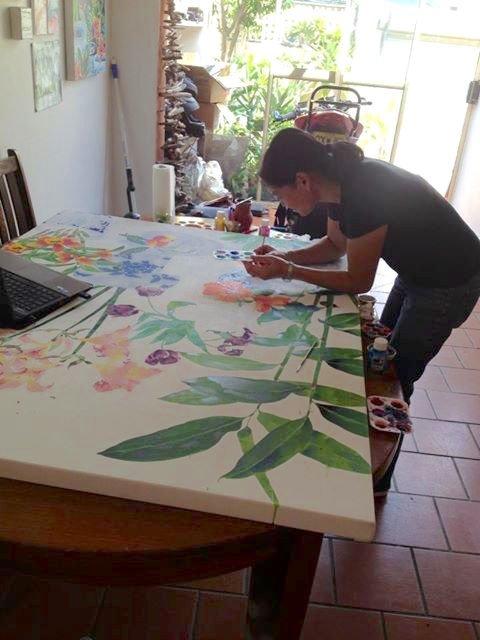 Gabby Malpas painting
