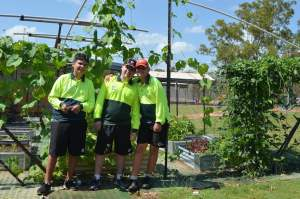 Men at Work team leaders Nhulunbuy High School EduGrow 2014