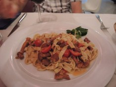 Fresh chanterelle fettucini in Bologna