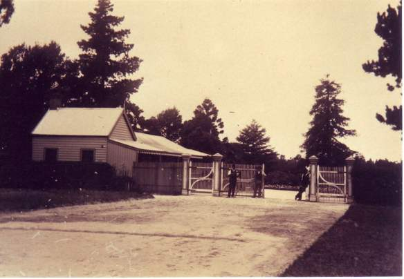 Entrance gates c 1894 (courtesy Burnley Archives)