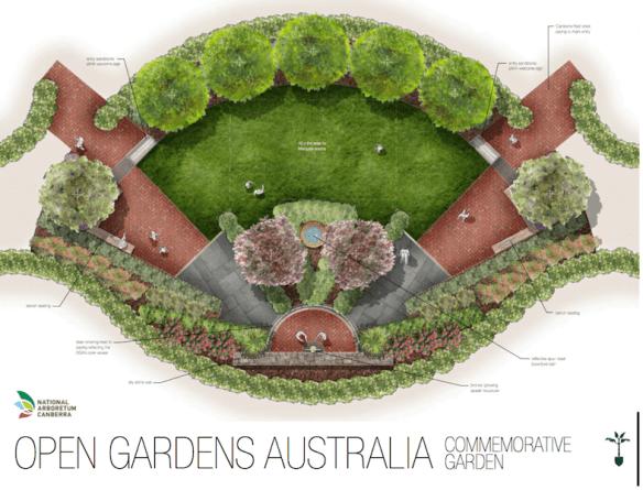 Open Gardens Australia commemorative garden Design Neil Hobbs